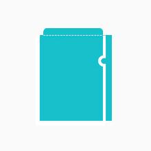 封筒型クリアファイル